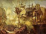 YsKYCp Puzzle 1000 Piezas, Joseph Mallord William Turner - La Batalla De Trafalgar Vista Desde Las Patrullas De Estribor De La Victoria