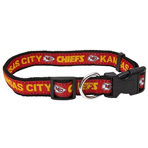 Pets First NFL Kansas City Chiefs STRONG & ADJUSTABLE DOG Collar, Large