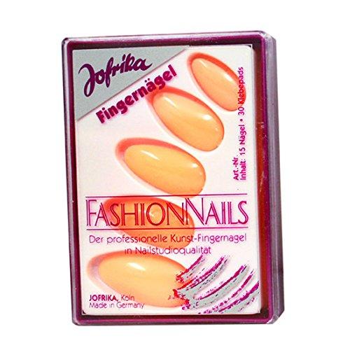NET TOYS Vernis à ongle Fluo années 80 Faux Ongles Orange néon Faux Ongles néon soirée Disco Faux Ongles Nouvel an Accessoires pour Femme Carnaval