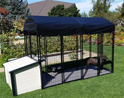 Cove Products K9 Condo 4' X 8' Dog Run with K9 Cabin Dog House Combination-Ultimate