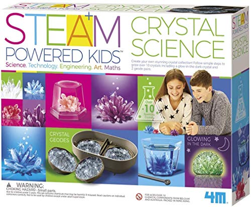 4M Deluxe Crystal Growing Combo Steam Science Kit...