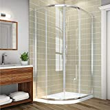 <span class='highlight'>1200</span> x 800 <span class='highlight'>mm</span> Left <span class='highlight'>Quadrant</span> <span class='highlight'>Shower</span> Enclosure 6<span class='highlight'>mm</span> Sliding Glass Cubicle Door with Tray   Waste