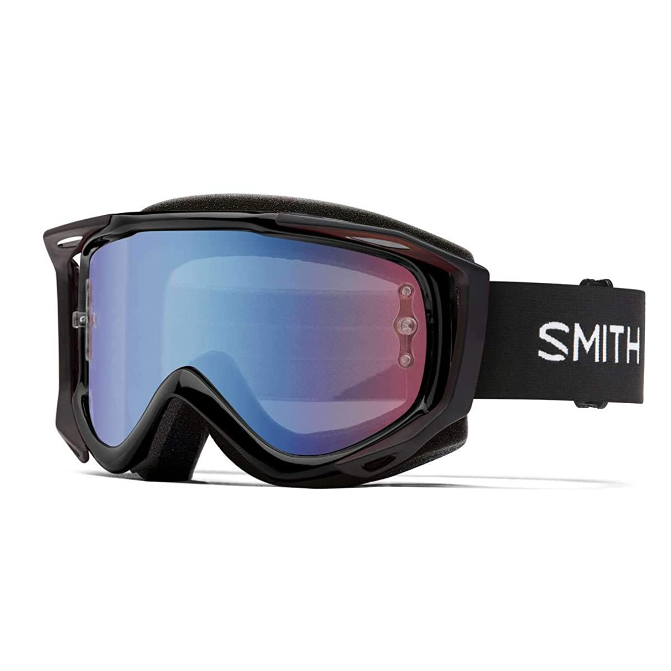 Smith Optics Fuel V.2 Adult Off-Road Cycling Goggles - Black/Blue Sensor/One Size