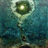 Luca Bonfanti Impresión artística sobre lienzo HD pintura cuadro arte moderno abstracto, 80 x 80 cm, génesis azul-verde