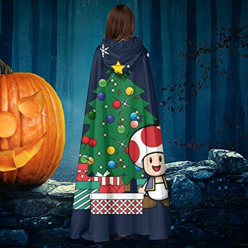 AISFGBJ Toad Around The Christmas Tree - Capa de Disfraz Unisex con Capucha para Halloween, Bruja, Caballero