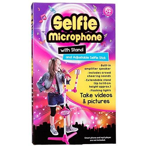 Selfie microfono con il basamento & selfie regolabile Stick (in inglese)