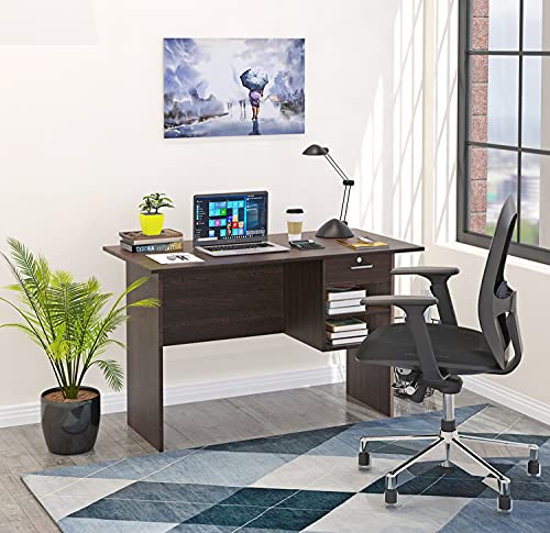 BLUEWUD Amalet Engineered Wood Study Table, Laptop, Computer Table Desk for Home & Office (Amalet Wenge)