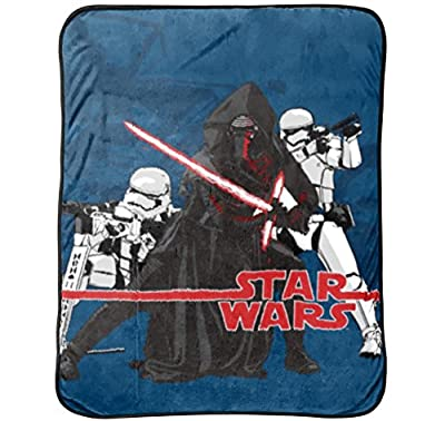"Star Wars Ep7 Live Action Blue 62"" x 90"" Twin Blanket"
