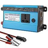 Inversor de corriente 500W 1200W 1600W 2200W, inversor de onda sinusoidal modificada DC 12V 24V 48V 60V a CA 220V 230V Convertidor de corriente con 4 puertos USB para automóvil, camping, viajes, 500W-