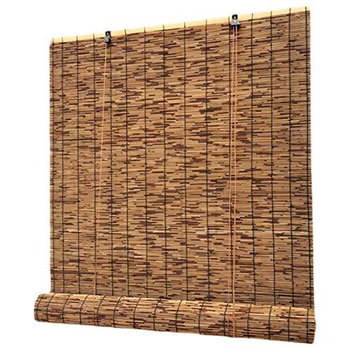 kufu01 Persianas Enrollables de Bambú de Pantalla de Privacidad para Balcón,Cortina de Caña Retro,Cortina de Paja de Paredes de Hotel,para Restaurantes/Salones de Té/Toldos (50x100cm/20x39in)