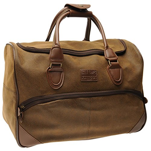 Kangol Unisex Small Holdall Zip Sport Brown One Size