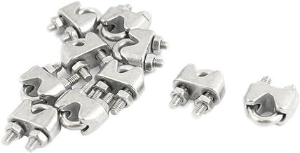 Serre-câble acier inox teinte argent 4mm 10 pièces