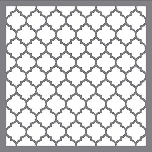 Rayher 38968000 Schablone Waben klassisch, 30,5 x 30,5 cm, Wabengröße ca. 3,6 x 4 cm, Polyester, lasergeschnitten, biegsam, wiederverwendbar, Malschablone, Wandschablone Kunststoff
