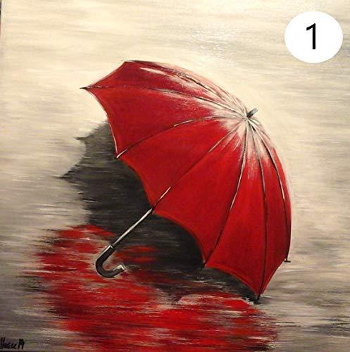 Atelier Karin Haase zeitgenössische moderne Malerei Regenschirm Wand Bild Unikat Acryl auf Leinwand Hand gemalt