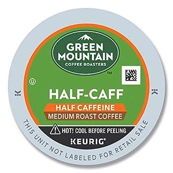 Green Mountain Coffee Roasters Half Caff Single-Serve Keurig K-Cup Pods Medium Roast Coffee 24 Count