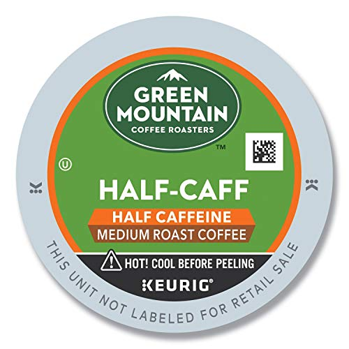 Green Mountain Coffee Roasters Half Caff, Single-Serve Keurig K-Cup Pods, Medium Roast Coffee, 24 Count