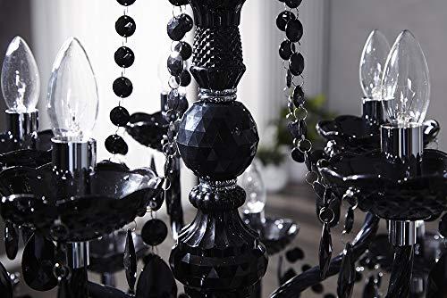 15-flammiger Design Kronleuchter BLACK CRYSTAL schwarz 15-armig Lüster Lampen Hängeleuchte Deckenlampe - 8