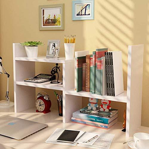 Organizador de escritorio de oficina de almacenamiento ajustable estante doble blanco estante suministros de escritorio para oficina cocina multiusos rack