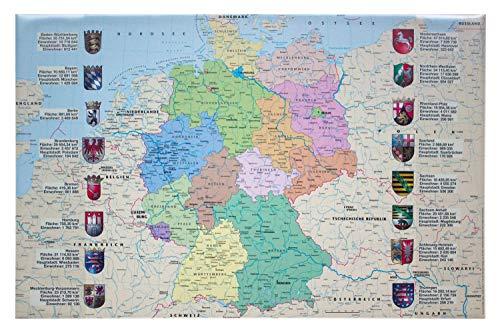 Idena Schreibunterlage aus Kunststoff mit Zwei Einstecktaschen, Deutschlandkarte, ca. 68 x 44 cm (Schreibunterlage Deutschlandkarte)