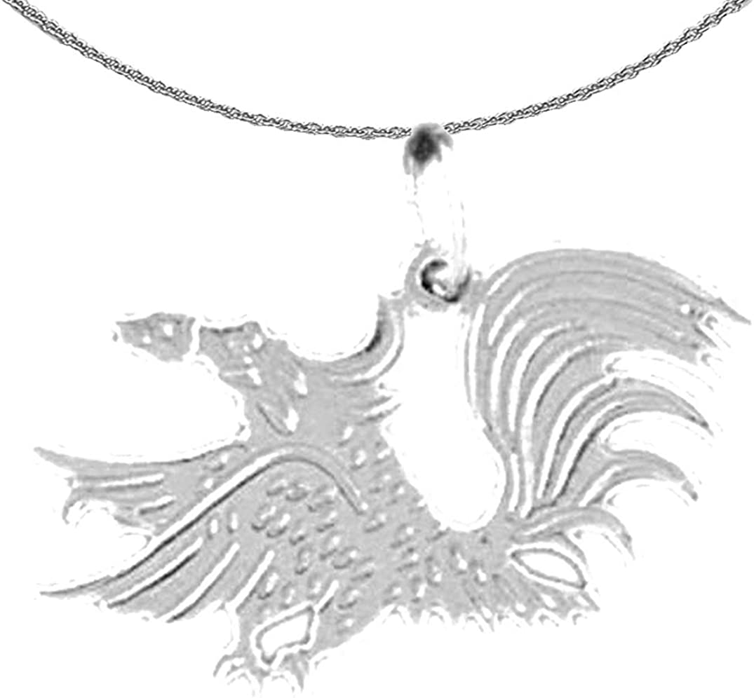 Jewels Obsession free Gold Bird Ranking TOP3 Necklace Rooster White Pen 14K