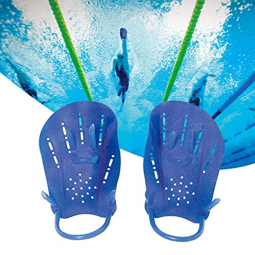 LoyaKuu Swim Paddles for Women and Men - Tech Swim Training Hand Paddles for Kids and Adults(Medium)