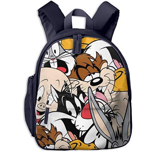 Bugs Bunny Tasmanian Devil Daffy Duck - Mochila Escolar Universal de Lona Azul Marino Talla única