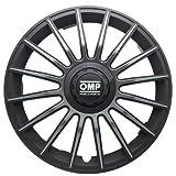 OMP OMP1311 Tapacubos Formula, Negro/Gris, Set de 4, 13'
