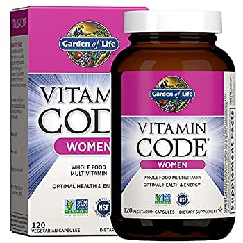 Garden of Life Multivitamin for Women Vitamin Code Women s Multi - 120 Capsules Whole Food Womens Multi Vitamins Iron Folate not Folic Acid & Probiotics for Womens Energy Vegetarian Supplements