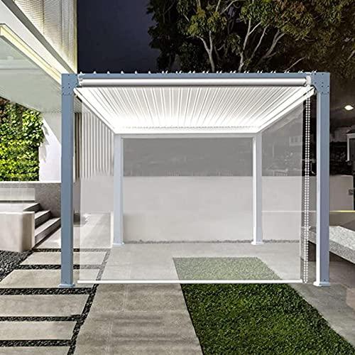 Jcnfa - Cortina de plástico transparente para jardín, terraza, cenador, protección solar, aislamiento térmico, impermeable y wi, tamaño: 120 cm × 120 cm (47 × 4