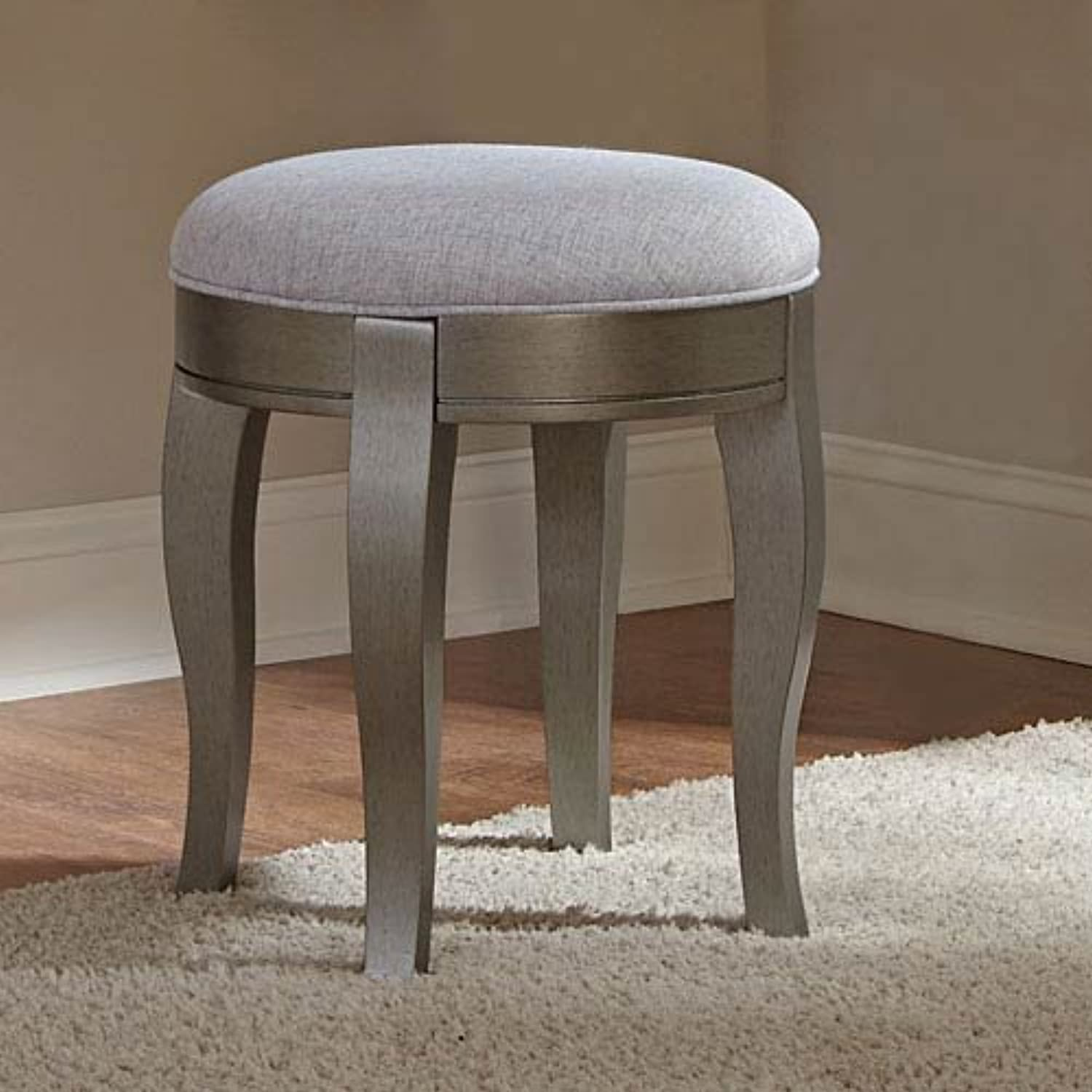 Hillsdale Kids and Teens Kensington NE Kids 30545 Vanity Stool, Antique Silver