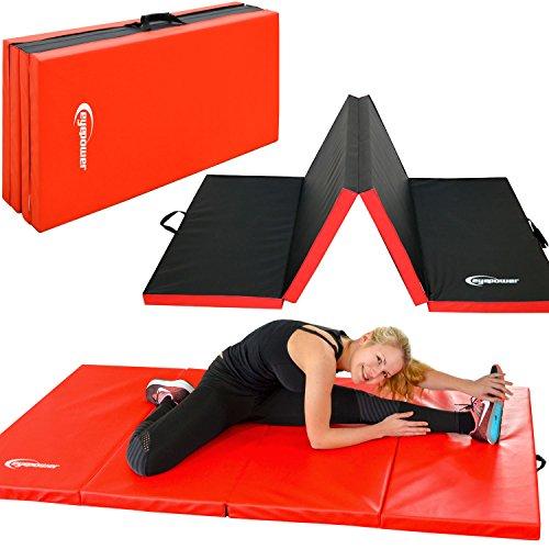 EYEPOWER 200x100 XL Turnmatte für Zuhause - Klappbar - 5 cm Gymnastikmatte - Kinder Weichbodenmatte