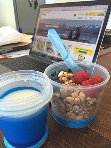 Taza Térmica para Cereales/Granola para Viajes con Compartimento ...