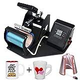 2 in 1 Digital Heat Press Machine Heat Transfer Sublimation Print MachineMug/12oz Latte