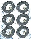 Trango Conjunto de 6 Foco empotrable IP65 en cromo redondo TG6729IP65-068 luz empotrada de baño, focos empotrados, luz de techo, luz de baño con 6x portalámparas GU10