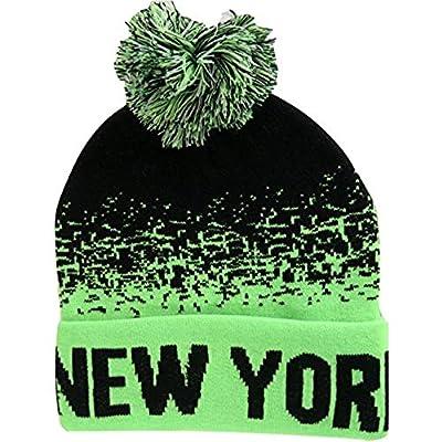 New York City Men's Digital Fade Soft Fabric Winter Knit Hats