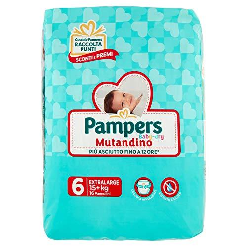 Pampers Baby Dry Unterhose - Extra Large Größe 6 (+15kg) 16 Windeln