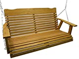 Kilmer Creek 4 Foot Cedar Porch Swing, Stained Finish, Amish Crafted, Includes Chain & Springs