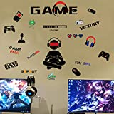 Game Controller Wall Decals Video Gamer Wall Stickers Murals for Teen Boys Room Kids Bedroom Playroom Home Decoration(Gamer)