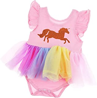 Distinguished Elegant Kids Baby Girls Unicorn Dress Toddlers Party Pageant Princess Sundress Clothes,Size:0-6 Months,Colou...