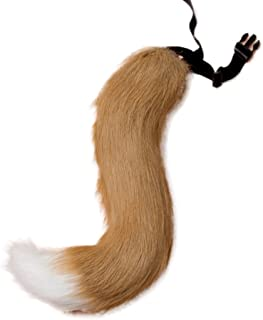 LKOUS Faux Fur Fox Tail Adult Cosplay Costume Christmas Dress Up Party