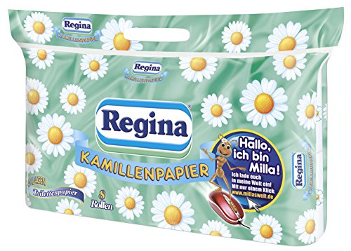Regina Kamillenpapier Toilettenpapier, 8 Stück