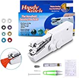 Mini Handheld Sewing Machine, LIUMY 15PCS Portable Sewing Machine,Mini Cordless Handheld Electric Stitch Tool for Quick Repairing, Fabric, Clothing, Kids Cloth, Home Travel Use