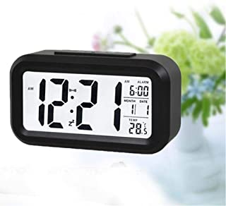 Digital Alarm Clock Student Clock Large Lcd Display Snooze Kids Clock Light Battery Sensor Nightlight Office Table Clock