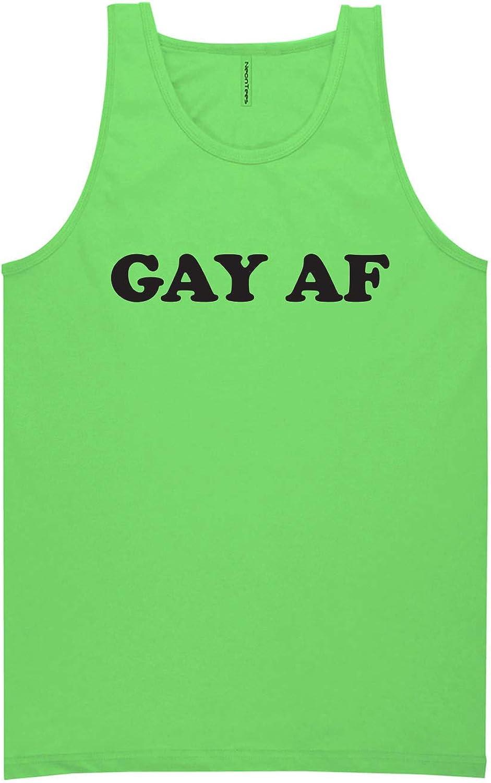 zerogravitee Gay AF Neon Tank Top
