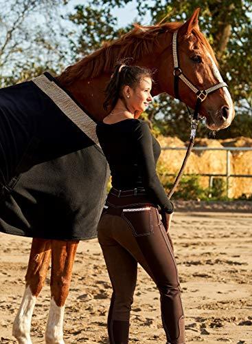 Reithose Anna Vollbesatz Reiterhose Schlupf Glitzer Strass Braun Tysons 36 38 40 42 44 46 48 (46)