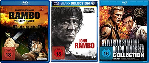 RAMBO 1 2 3 4 Complete Collection BLU-RAY + Bonus SYLVESTER STALLONE COLLECTION mit Nighthawks + Death Race 2000 +  Vorhof zum Paradies