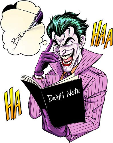 T-Shirt Noir Batman - Death Note parodique Le Joker de Batman et Le Death Note : Le Joke Note. (Parodie Batman - Death Note)