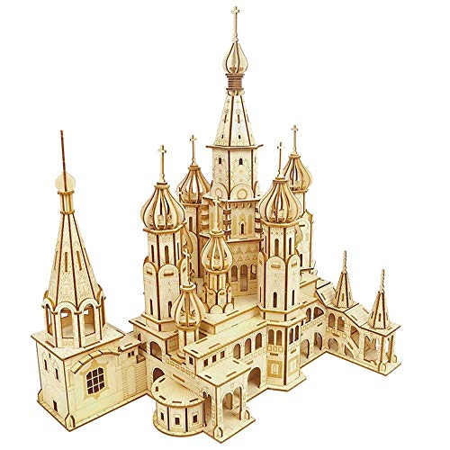 Puzzle 3D Francia Arquitectura Modelo Kits de construcción con Estructura Interna, (Castillo de San Pedro)