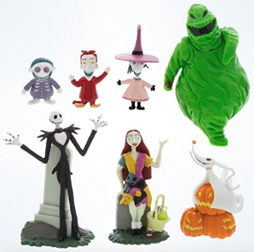Nightmare Before Christmas Disney Parks Exclusive Jack Skellington 7 Pc. Figurine Playset