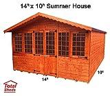 Total Sheds 14ft (4.2m) x 10ft (3m) Summer House Cabin Supreme Cabin